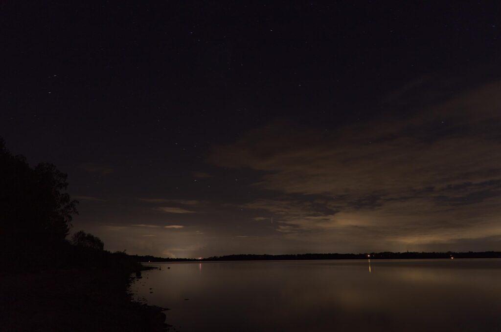 Sternenhimmel über dem Muldestausee